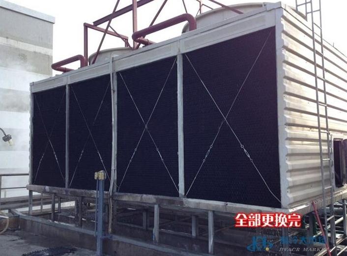 中央空调冷却塔填料更换300T横流方塔黑色填料更换