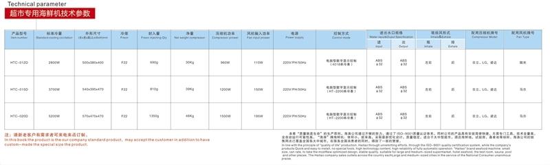 1匹超市鱼池专用机(HTC-012R)