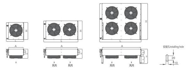 浙江凯迪  凯得利 H型高效风冷冷凝器