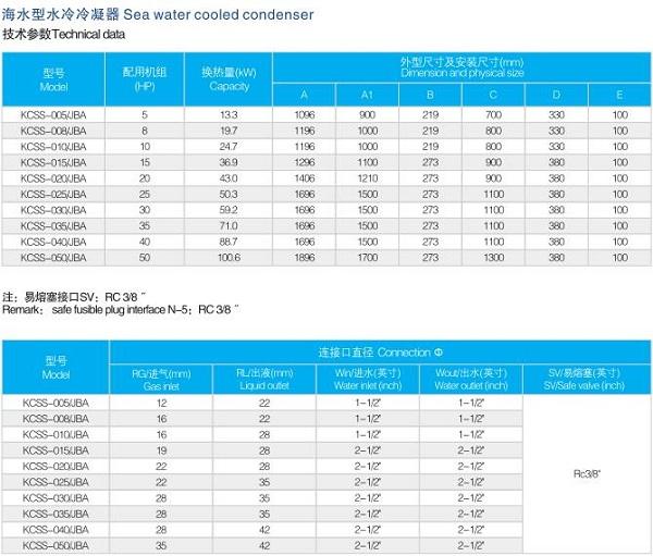 凯迪  凯得利 海水型水冷冷凝器