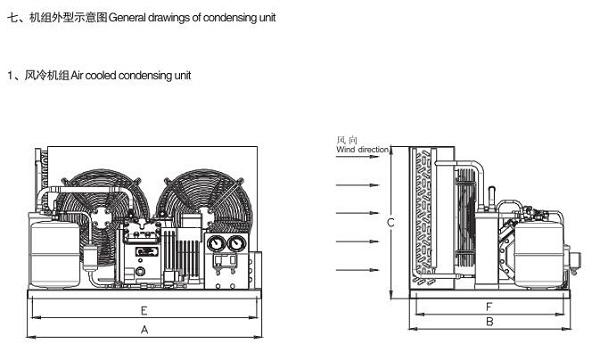 雪鹰BR系列风冷半封闭活塞压缩冷凝机组