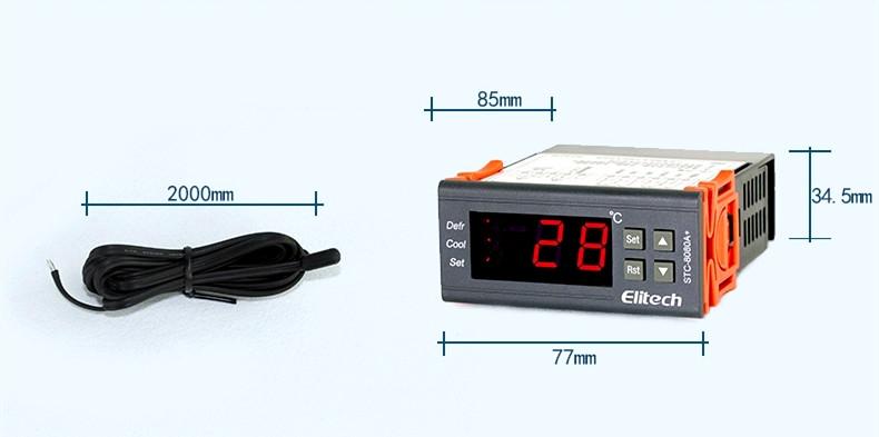 精创STC-8080A+微电脑数字温控 电子温控器