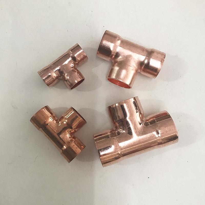 紫铜三通T型接头空调铜管三通铜管接头铜配件