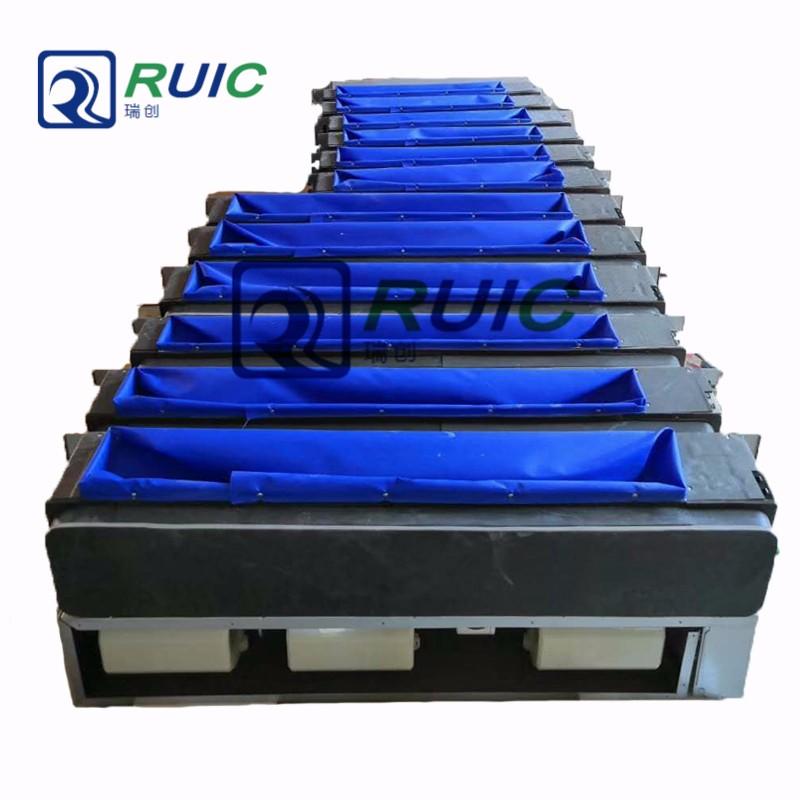 中央空调风口专用蓝色纳米阻燃帆布防火布硅钛布三防布