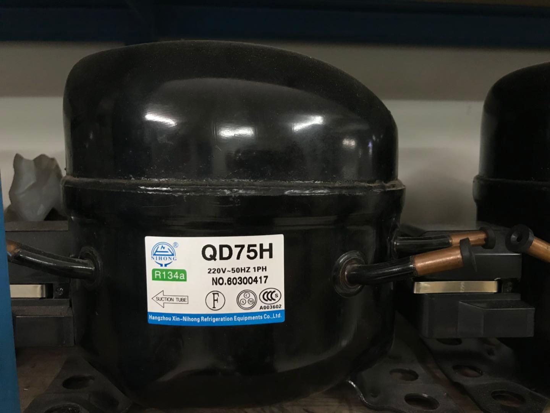 霓虹1P压缩机QD75H  R134a制冷剂