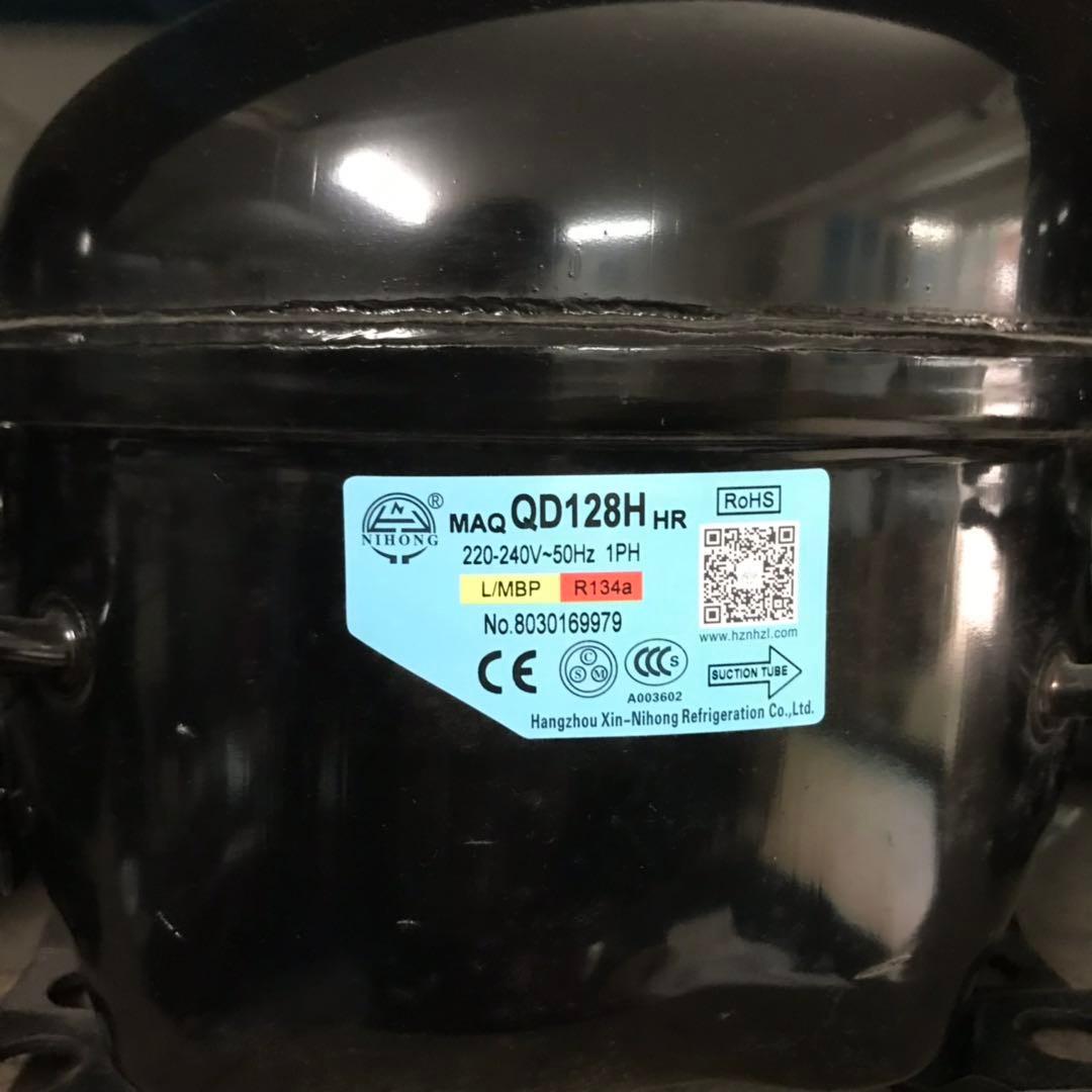 霓虹1P压缩机QD128H  R134a制冷剂