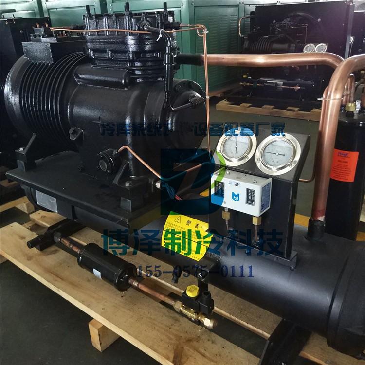 谷轮6缸半封闭制冷机组 30HP低温冷库制冷机组 谷轮半
