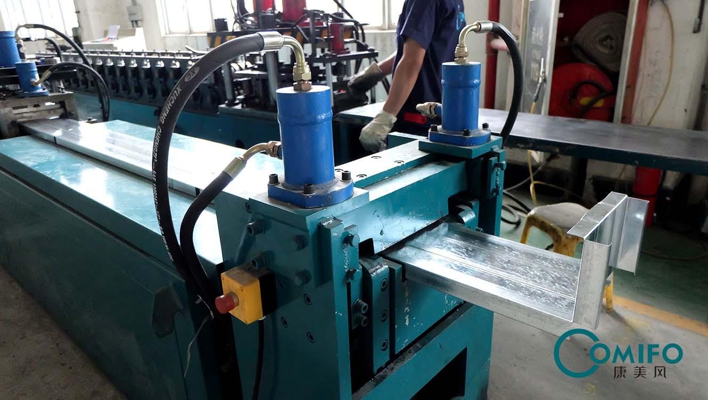 广州康美风全自动防火阀外框生产线 防火阀生产线