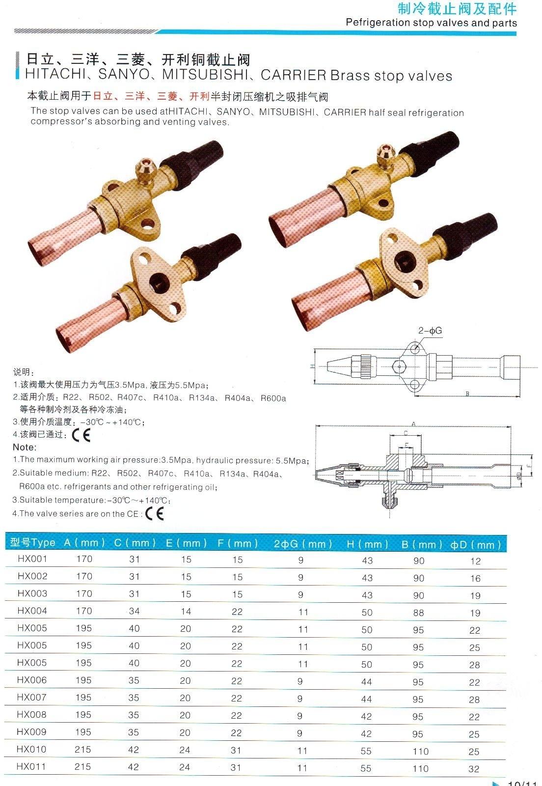 三洋开利(F型)15P/20P低压阀
