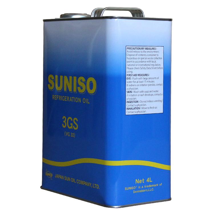 SUNISO/太阳3GS制冷压缩机用冷冻油4L装新包装润滑油