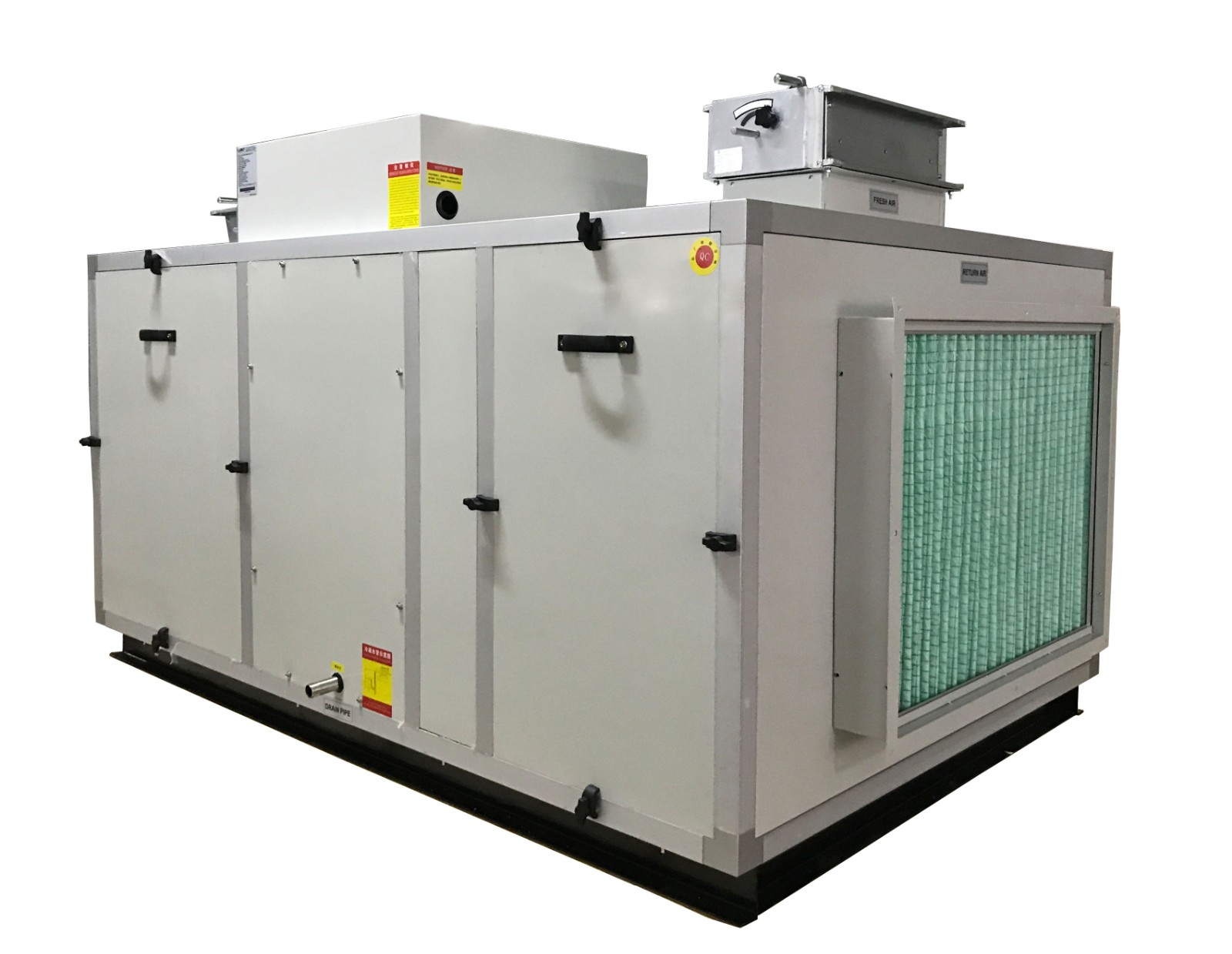 风冷地下人防除湿工程设备调温新风除湿机
