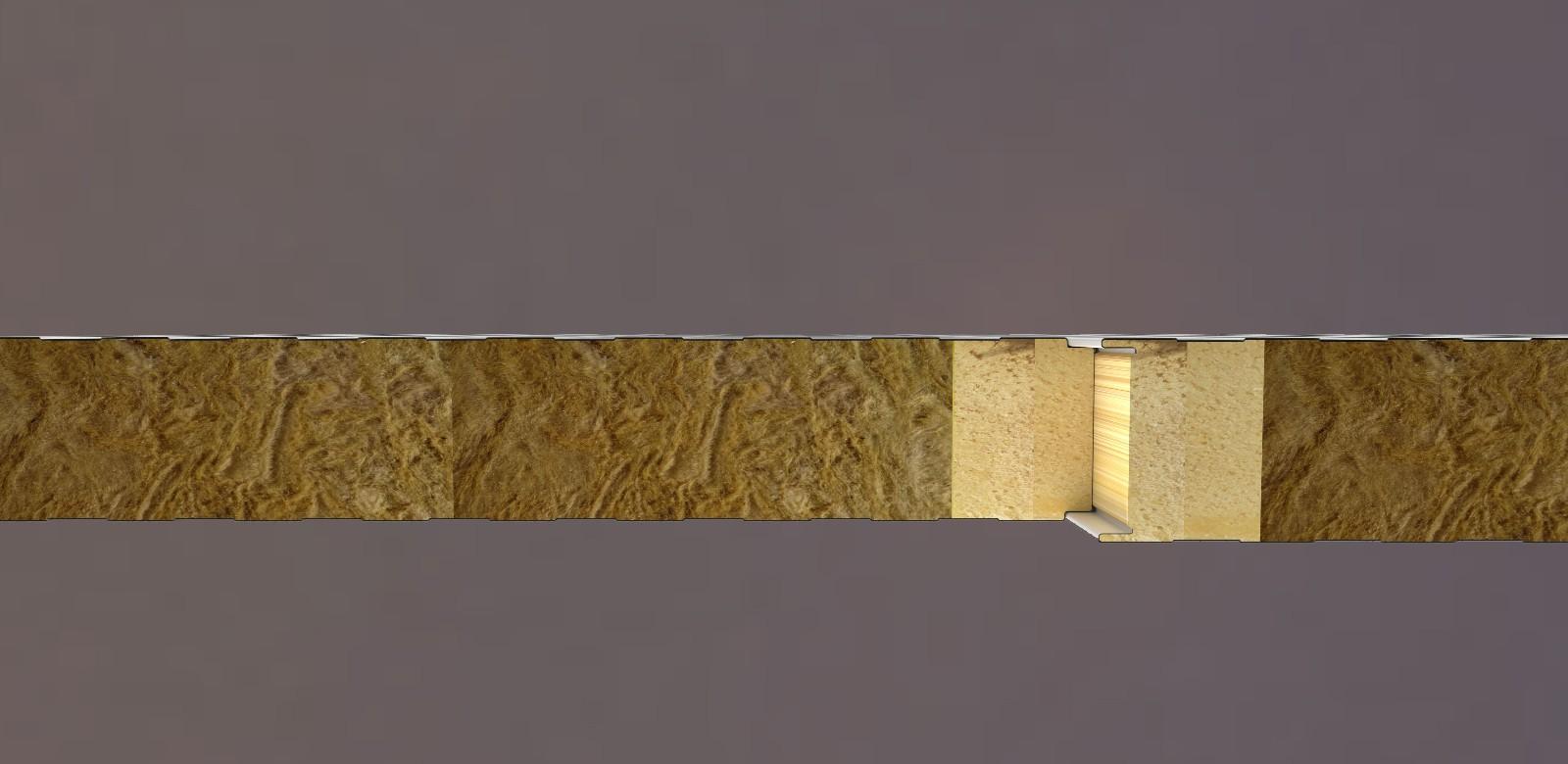 1+1岩棉PIRPUR夹芯板