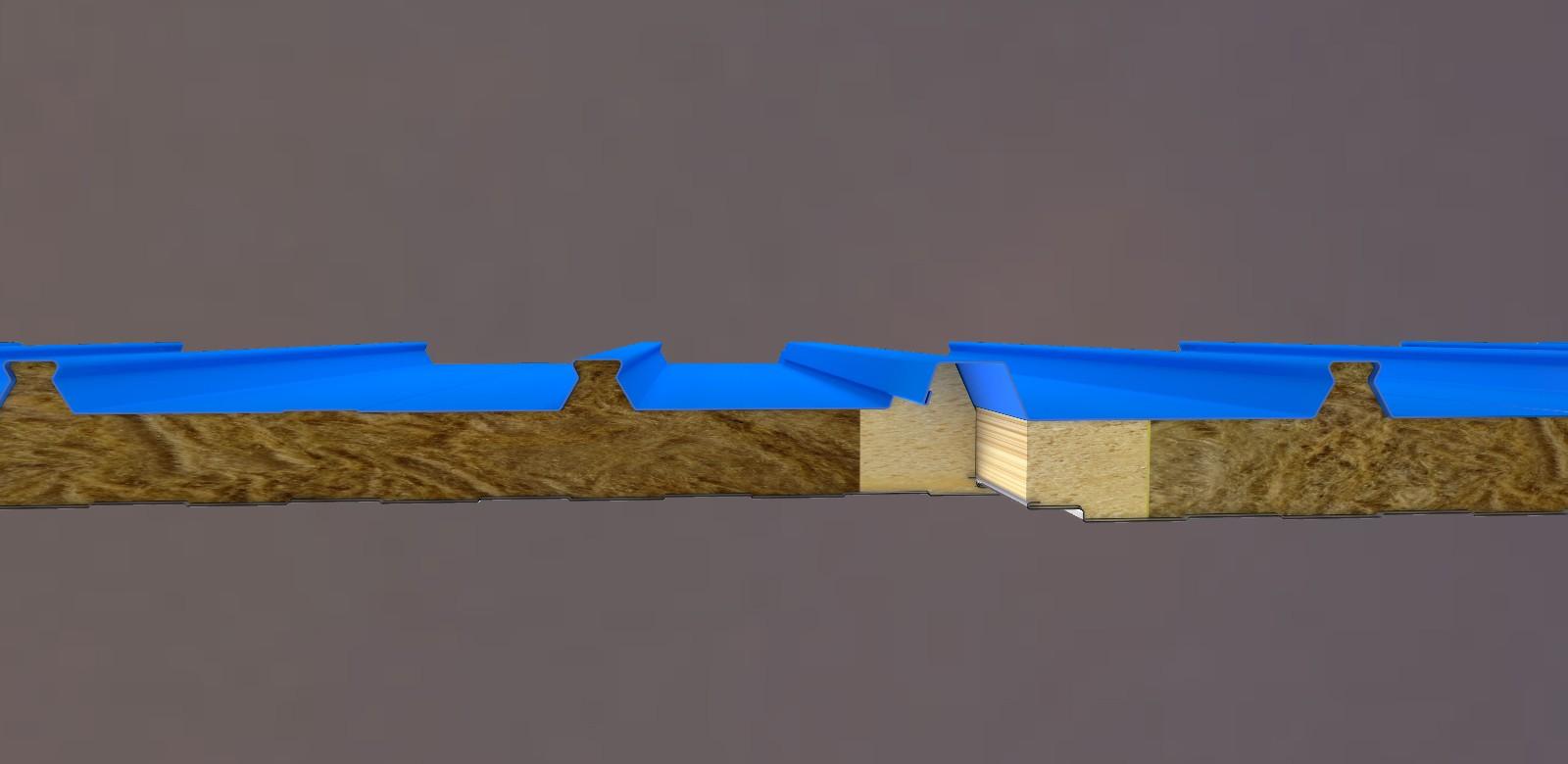岩棉聚氨酯封边屋面板