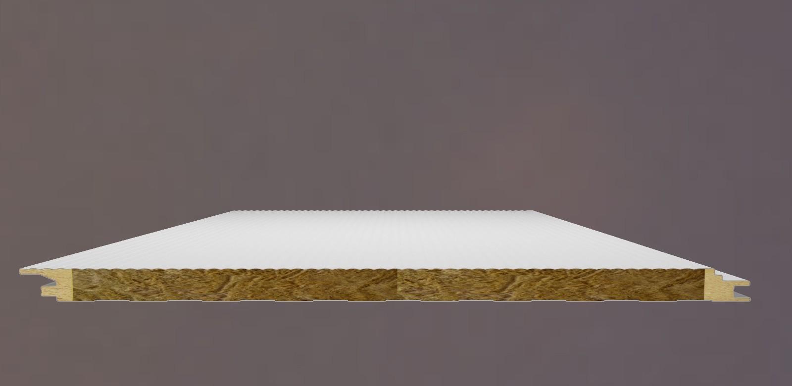 岩棉聚氨酯封边无缝墙面板
