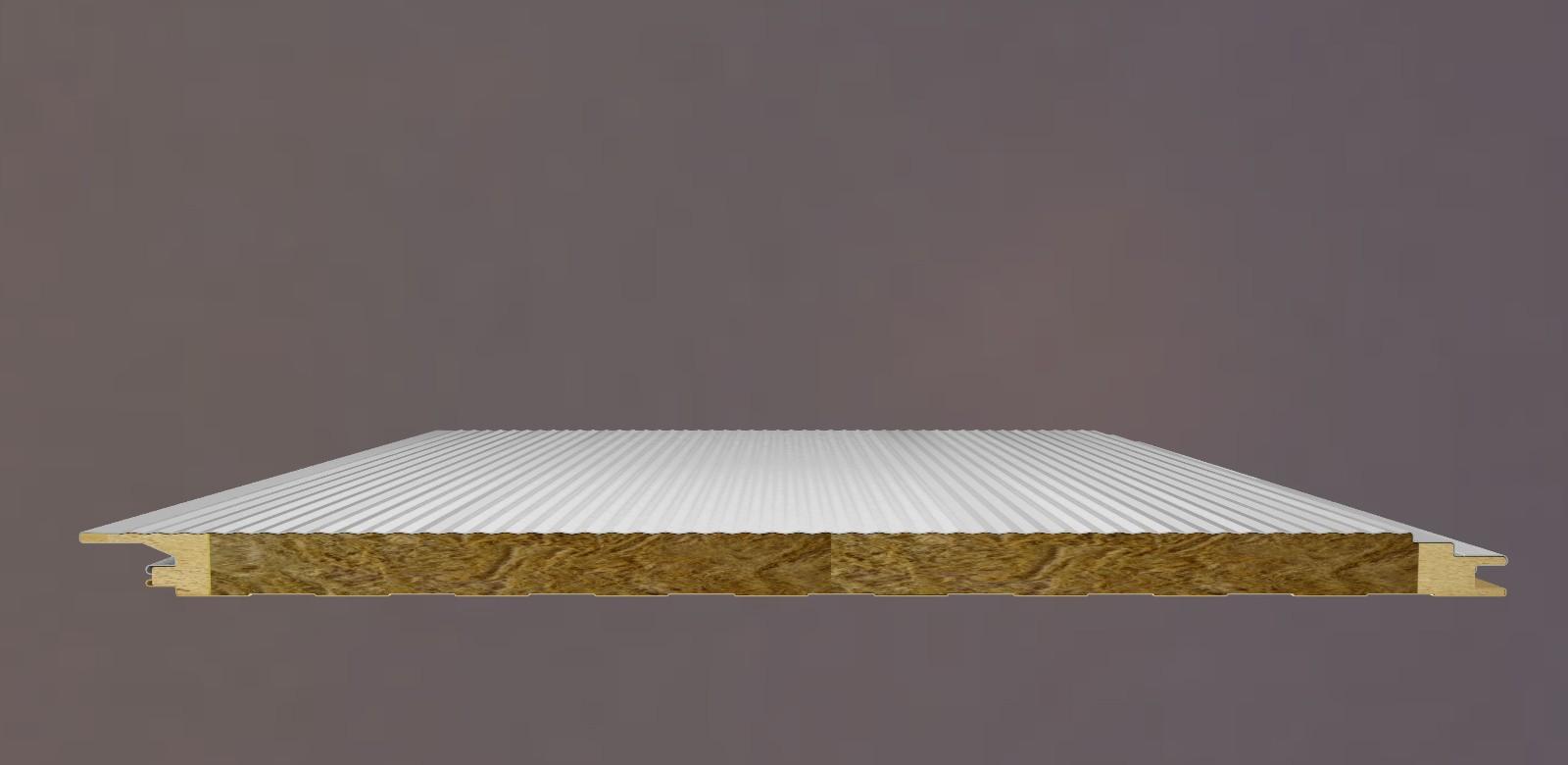 岩棉聚氨酯封边有缝墙面板