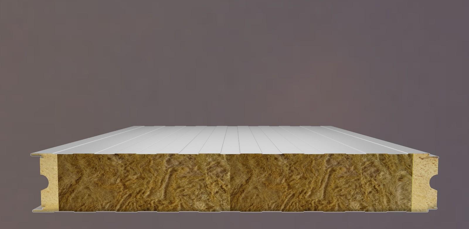 岩棉聚氨酯冷库板(浇注式)
