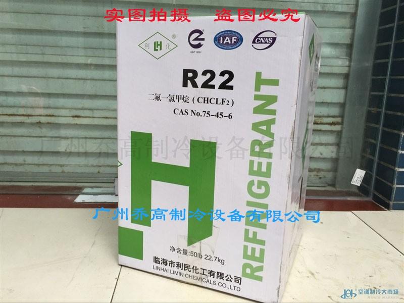 临海利民化工自主品牌利化R22  净重22.7KG
