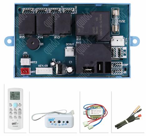 苏州群达柜机空调通用板   冷暖型带电辅热QD-U10B+