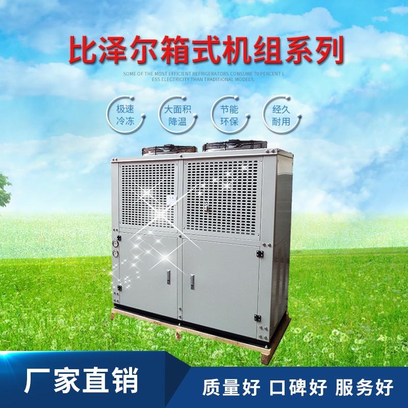 德国比泽尔Bitzer箱式机组结构紧散热好冷量大自产V型冷凝器价优
