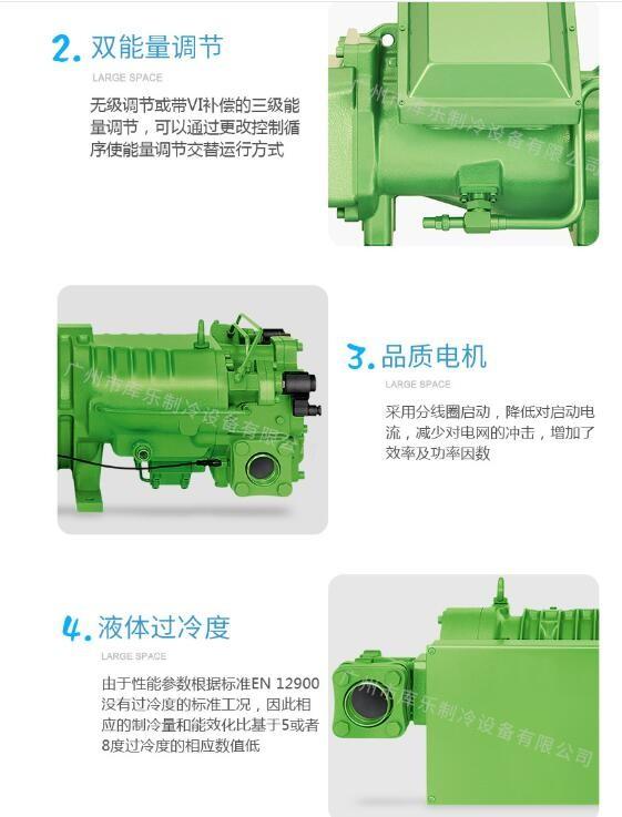德国比泽尔Bitzer冷冻螺杆压缩机低温冷库高效节能