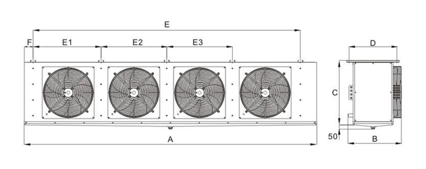 DD型中温吊顶式冷风机