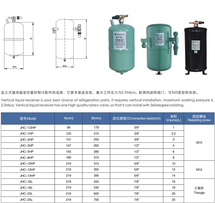 直立式储液器