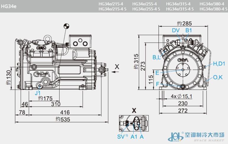 博客压缩机hg34e-315-4s