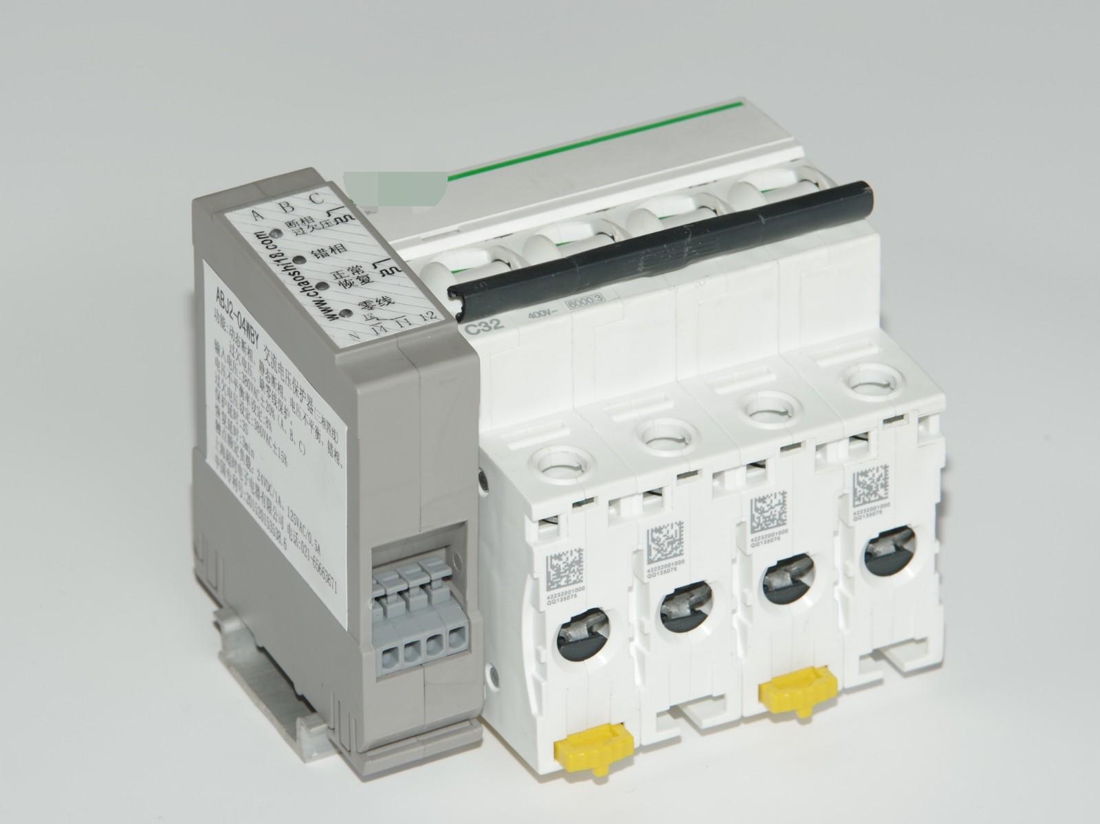 上海超时电子电器原厂 ABJ2-04W 三相四线交流电压保护器(家用工业通用)
