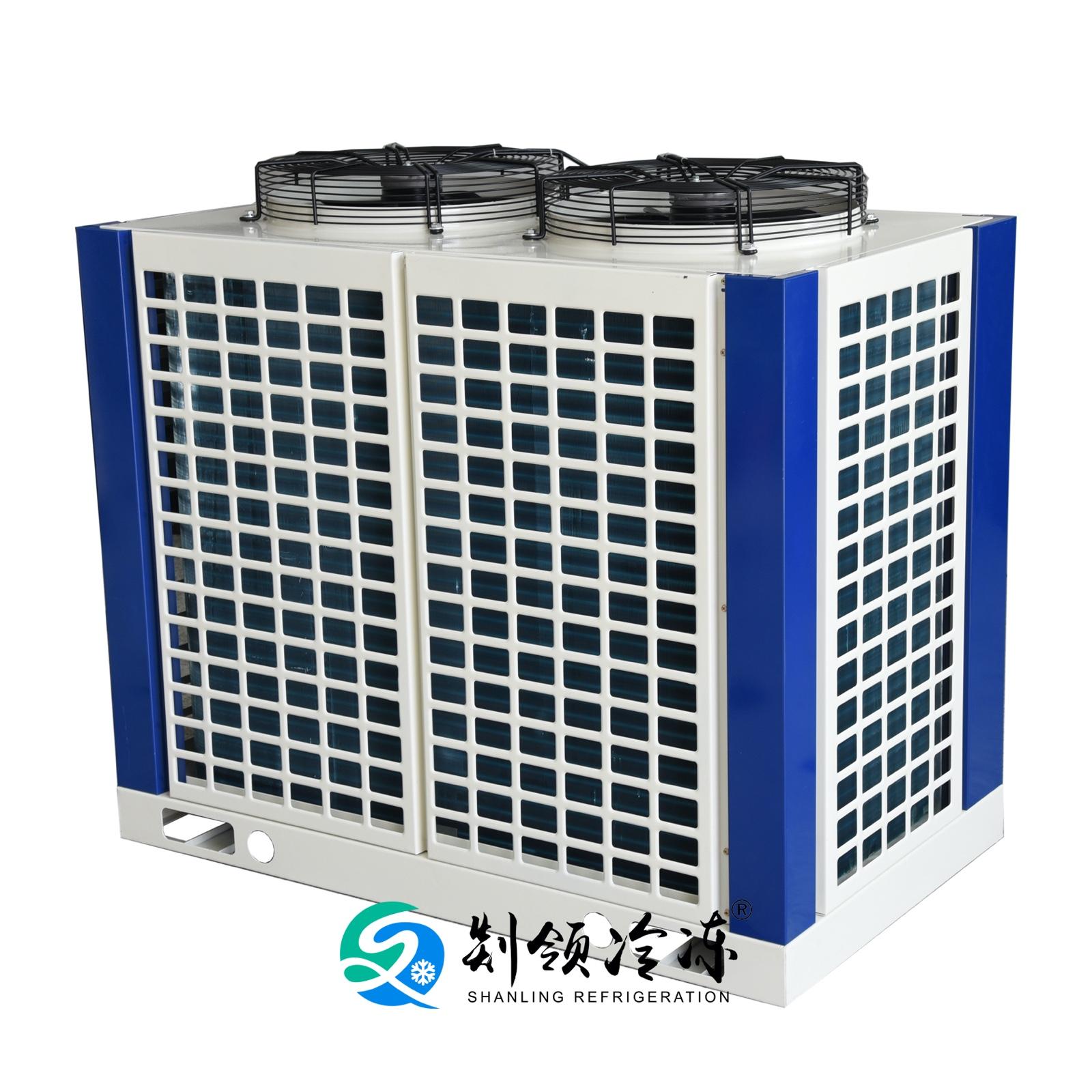 铜管铝翅片箱体式冷凝器 表冷器 散热器空气源换热器FNU-14.9/45