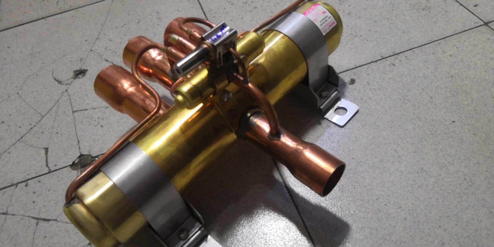 Dunan盾安四通换向阀DSF-70空气能热泵冷暖中央空调四通阀20匹