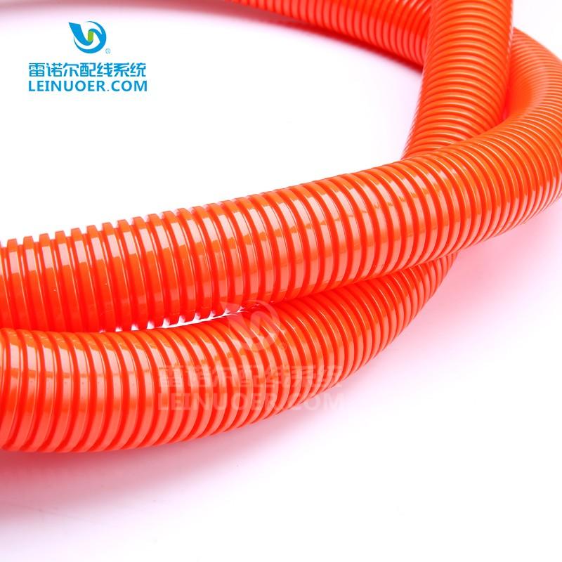 橙色尼龙波纹管,汽车线束保护套管,阻燃耐磨穿线管