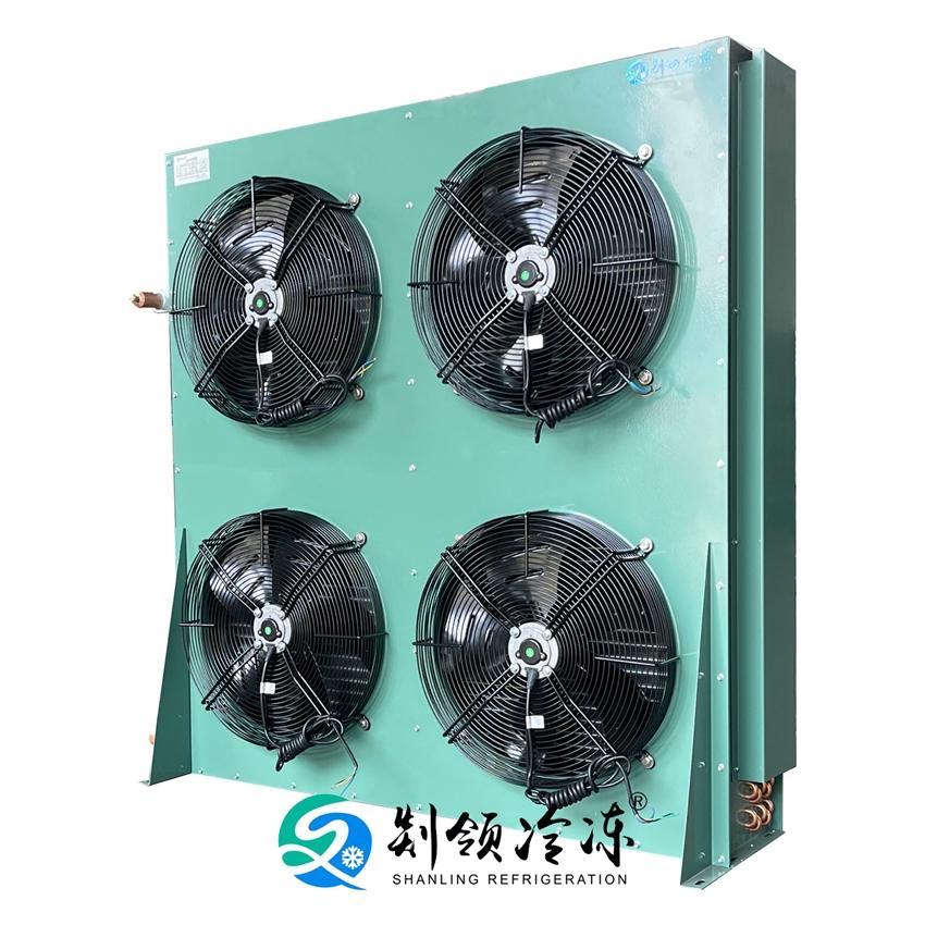 风冷凝器SFNH4-45.6/160 空调 热泵 压缩机换热器 铜管铝片散热器