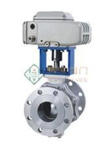 电动二通O型调节球阀