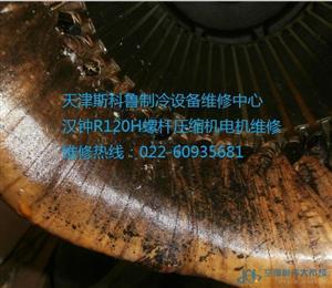 天津汉钟R120H螺杆式压缩机电机维修