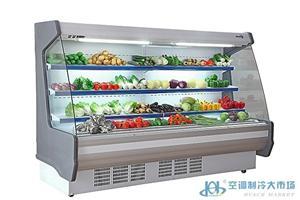 超市水果保鲜风幕柜