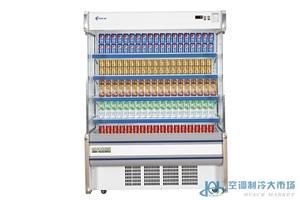 商超风幕柜水果保鲜柜冷柜,节能高效冷柜厂家