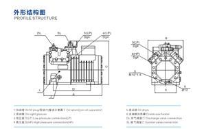力喜小二、小四、中四缸系列半封闭压缩机