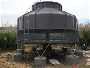 灭菌设备冷却塔风度300T工业圆形冷却水塔