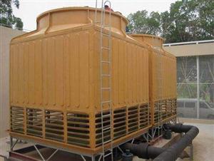 铸造方形逆流式玻璃钢冷却塔风度600T机力通风冷却塔