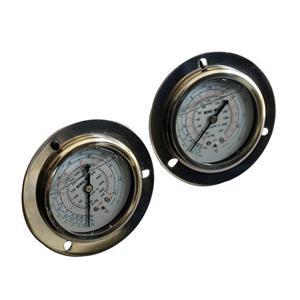制冷机组冷媒压力表钛合金硅油高压低油压表1.8-3.8