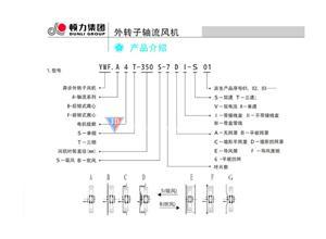 顿力三相异步外转子电机YWF.A4T-450S 450mm电压380V