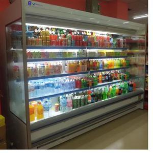 郑州厂家定制异形风幕柜冷藏柜保鲜柜展示柜诺森德制冷