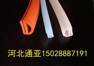 e型密封條 E型硅膠白色\紅色密封條 耐高溫硅橡膠膠