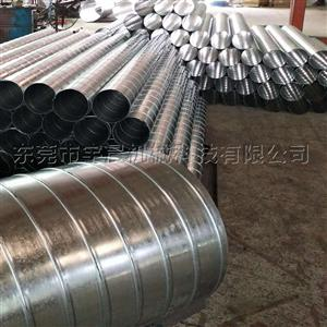 螺旋风管 东莞圆形镀锌铁皮风管价格