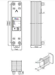 5HP 5匹经济器 钎焊板式换热器 汉科诺和 Hexnovo
