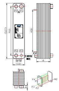 克莱门特维修机 钎焊热交换器 316L不锈钢板片 HC052-5