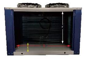 U型箱体顶出风冷凝器