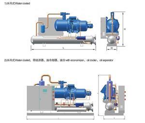 汉钟RCZ系列螺杆压缩冷凝机组