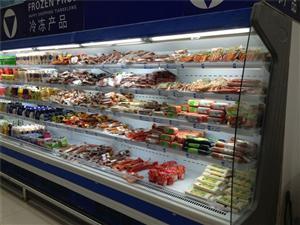 郑州水果风幕柜价格 超市酸奶风幕柜 串串风幕柜定做