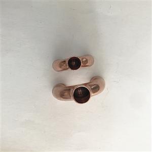 紫铜插入式Y型三通加厚等径紫铜接头焊接铜管铜件口径1